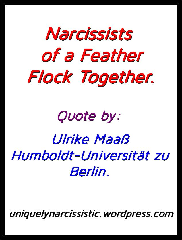 "Quote ""Narcissists of a Feather Flock Together."" by Ulrike Maaß of Humboldt-Universität zu Berlin,"